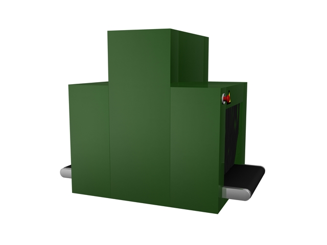 Security X Ray luggage scanning machine 3d rendering