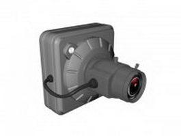 Surveillance video camera 3d preview