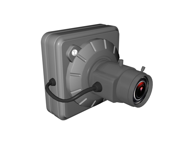 Surveillance video camera 3d rendering