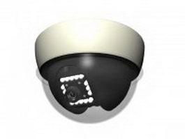 Dome CCTV camera 3d preview