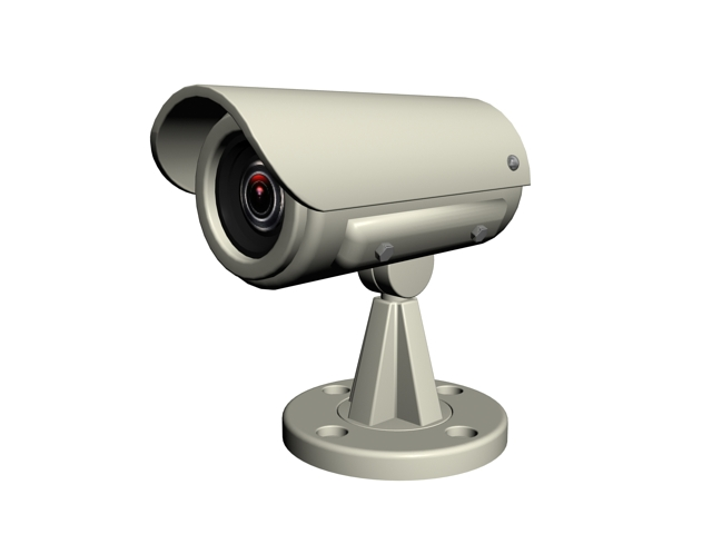 Security and video surveillance camera 3d rendering