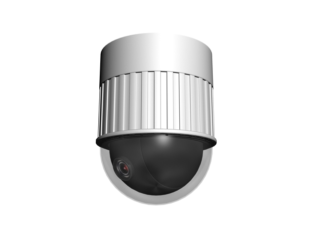 CCTV dome camera 3d rendering