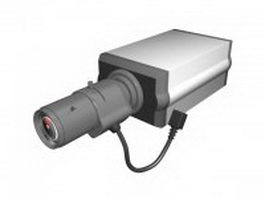 Analog security camera 3d preview