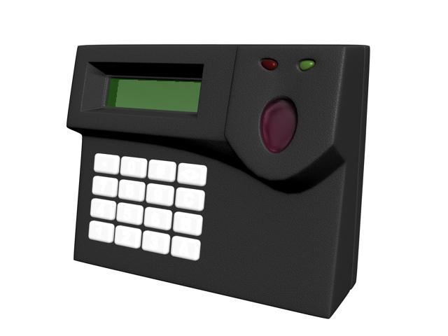 Biometric fingerprint reader 3d rendering