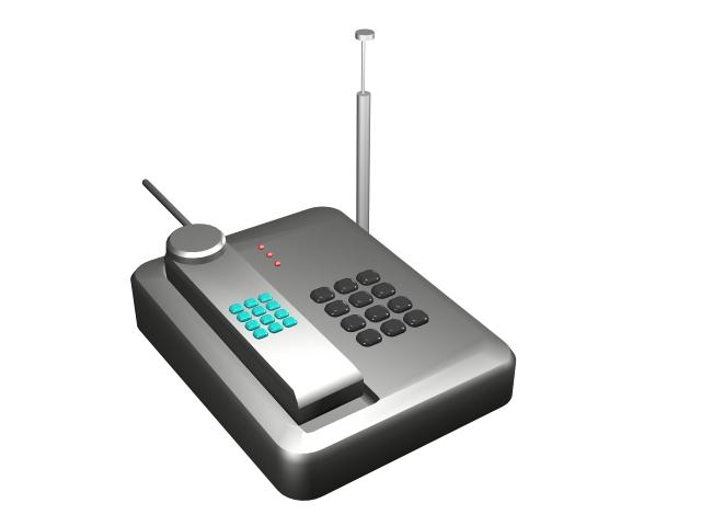 Digital cordless phone 3d rendering