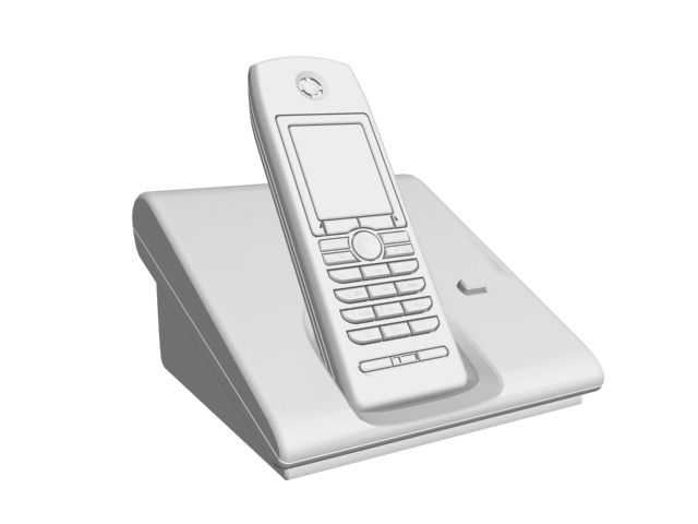 Cordless phone with digital answering system 3d rendering