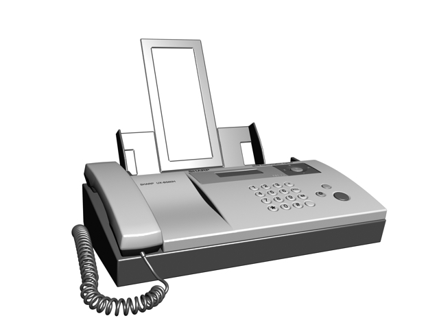 Sharp Inkjet Fax Machine 3d rendering