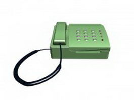 Green telephone 3d model preview