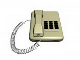 Analog telephone set 3d model preview