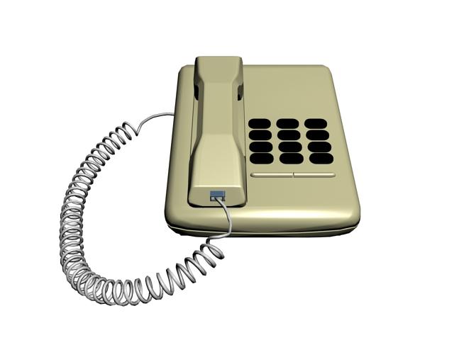Analog telephone set 3d rendering
