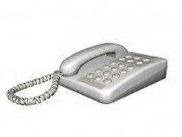 Landline telephone 3d model preview