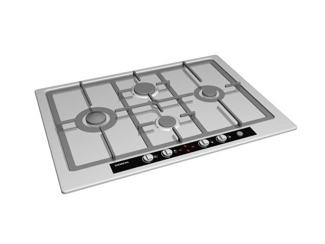 Siemens kitchen cooktop 3d rendering