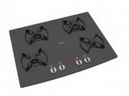 Whirlpool gas cooktop 3d preview