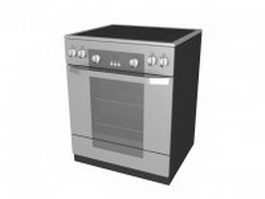 Electric stove oven 3d preview