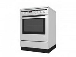 Electric range and oven 3d preview