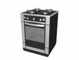Gas cooking stove 3d preview