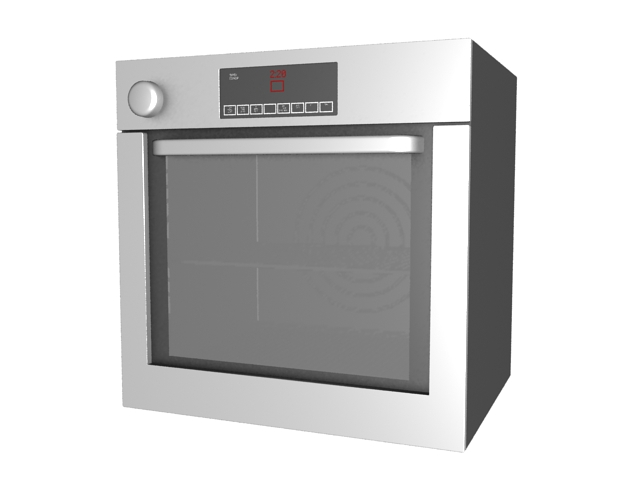 Electric oven 3d rendering