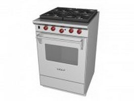 Wolf gas stove 3d preview