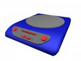 Portable induction cooker 3d preview