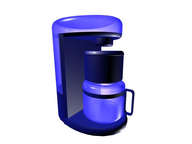 Coffee maker 3d rendering