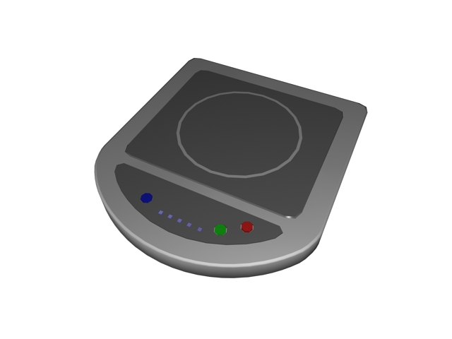 Commercial induction cooker 3d rendering