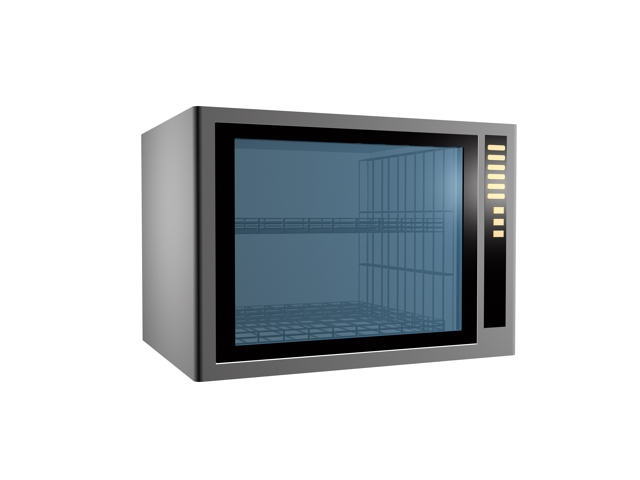 Home-use microwave oven 3d rendering