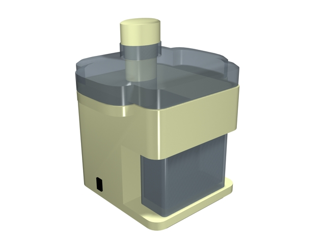 Electric centrifugal juicer 3d rendering