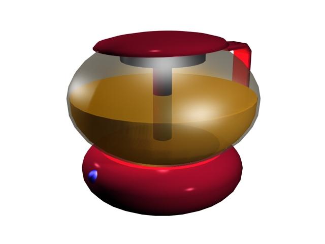 Electric tea pot 3d rendering