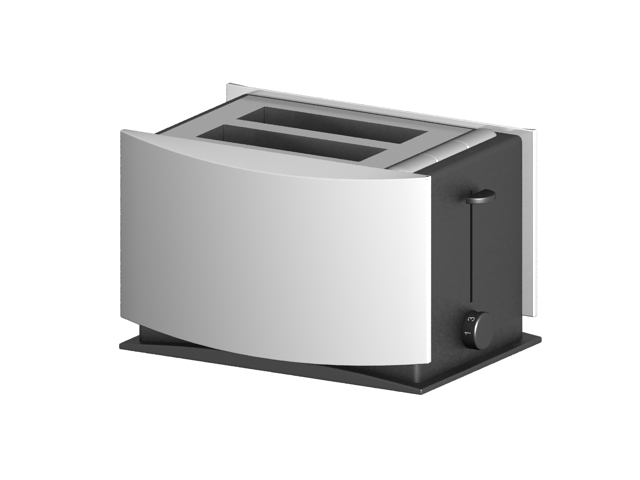 Automatic electric toaster 3d rendering