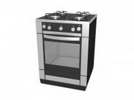Free standing gas range 3d preview