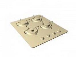Built in gas cooktop 3d preview