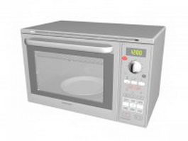 Samsung microwave oven 3d model preview