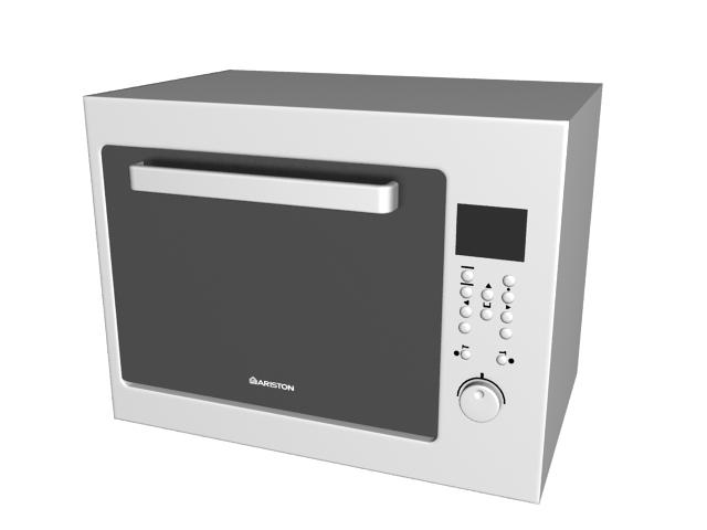 Ariston oven 3d rendering