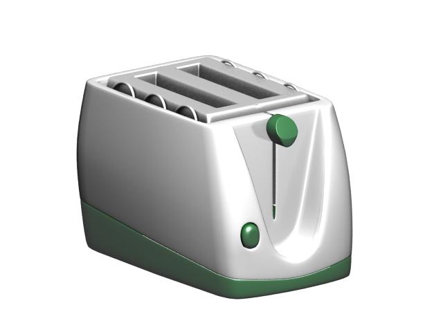 Hot dog toaster 3d rendering