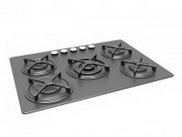 Buil-in gas cooktop 3d preview