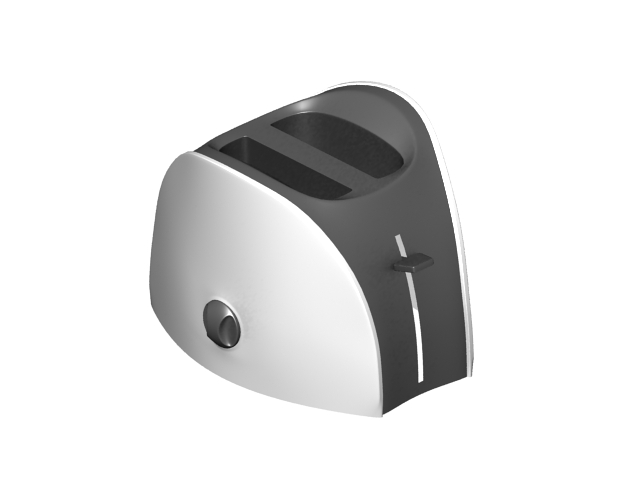 Pop-up toaster 3d rendering