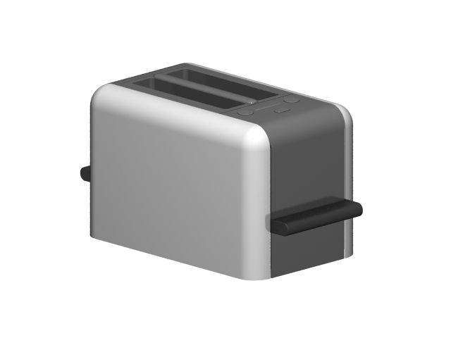2 Slice toaster 3d rendering