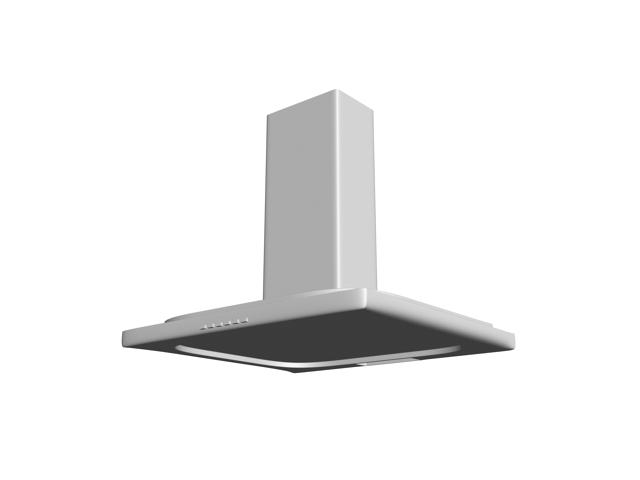 Wall-mounted extractor hood 3d rendering