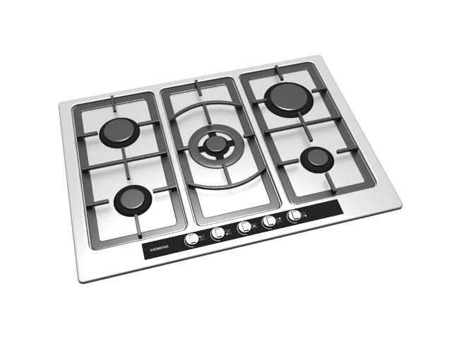 Siemens gas cooktop 3d rendering