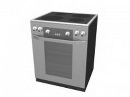 Electric range cooker 3d model preview
