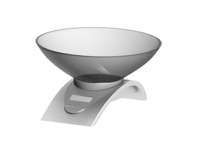 Digital kitchen scale 3d rendering