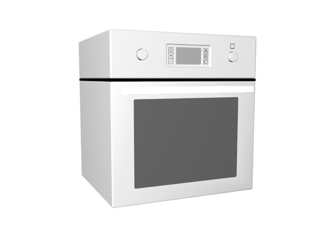 Countertop microwave 3d rendering
