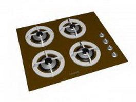 Fagor gas cooktop 3d preview