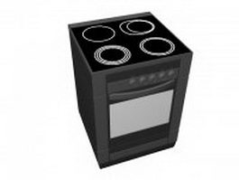 Viking electric range 3d preview