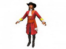Pirate captain 3d preview