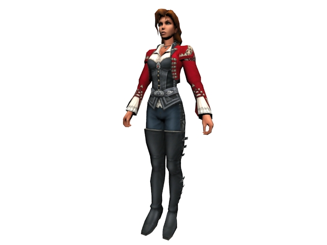 Female cowgirl 3d rendering