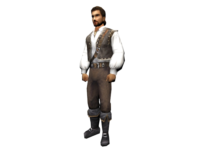 Aristocrat male 3d rendering