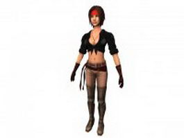 Beatrice Sharp woman pirate 3d model preview