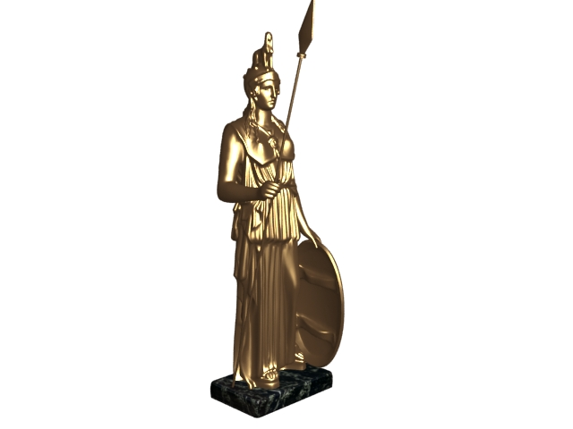 Greek sculpture athena 3d rendering