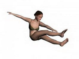 Swimwear woman 3d model preview